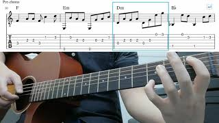How Deep Is Your Love (Bee Gees) - Easy Fingerstyle Guitar Tutorial Lesson With Tabs
