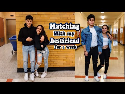 [VIDEO] - Wearing matching outfits with my boy friend to school for a week 7