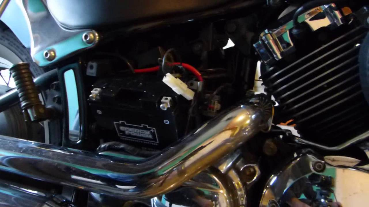 How to Install a Battery on a 650 V Star - YouTube Wiring Diagram Yamaha V Star on bmw f650 wiring diagram, western star fuse diagram, honda magna wiring diagram, yamaha v star parts, triumph speed triple wiring diagram, yamaha v star coil, victory cross country wiring diagram, yamaha schematic diagram, silverado wiring diagram, triumph thunderbird wiring diagram, yamaha v star shock absorber, roadstar wiring diagram, yamaha v star oil filter, suzuki sv650 wiring diagram, kawasaki concours wiring diagram, honda shadow wiring diagram, ducati wiring diagram, kawasaki vulcan wiring diagram, yamaha v star exhaust, suzuki intruder wiring diagram,