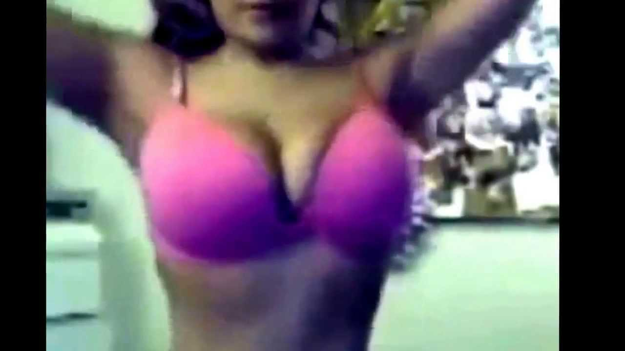Sexy girl shaking her boobs