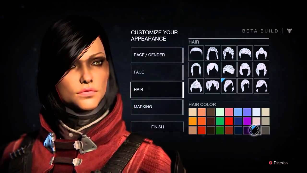 Destiny Beta Character Creation Female Warlock YouTube