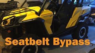 Can Am Commander\Maverick Seat Belt Limiter Bypass