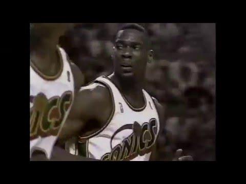 Shawn Kemp - Bulls @ Sonics - 1996 Finals G4 (5 DUNKS)