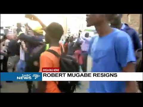 BREAKING NEWS: Robert Mugabe Resigns as Zimbabwe President  after 37 years in power
