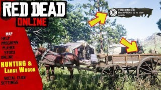 RED DEAD ONLINE HUNTING WAGON AND LARGE TRADER WAGON ARE AMAZING