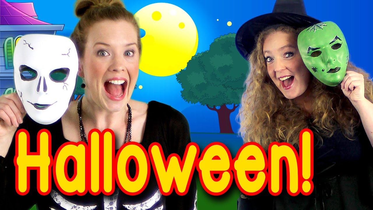 halloween peek a boo party - kids halloween song - youtube