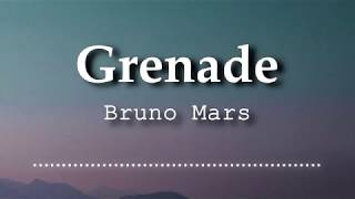 Bruno Mars - Grenade (Lyrics Video)