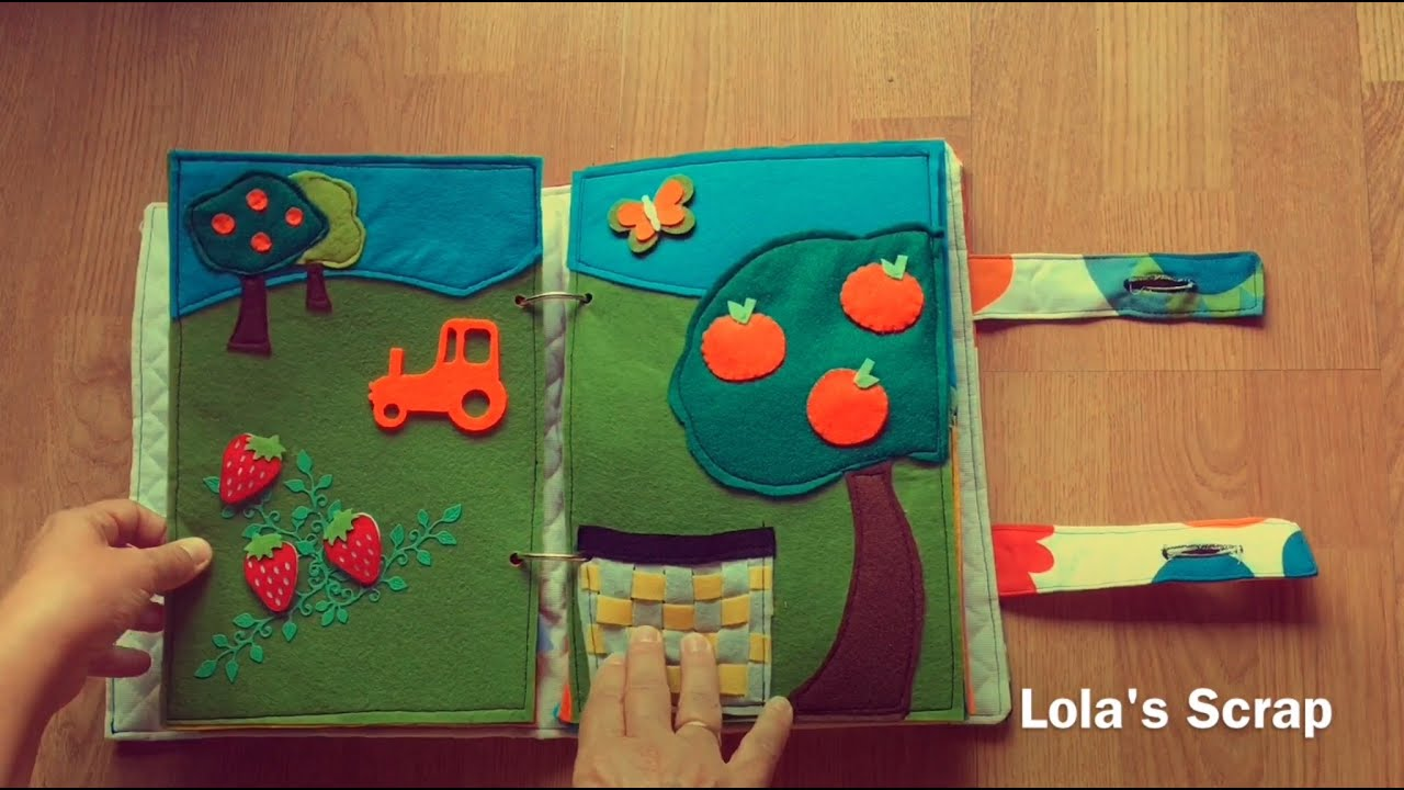 Libro Sensorial Para Niños. DIY