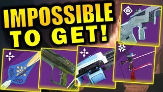 5 AMAZING Weapons that are IMPOSSIBLE TO GET! | Shadowkeep
