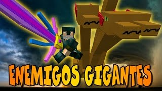 ENEMIGOS GIGANTES! | MLP and Mythical Creatures MOD | Minecraft Mod Review