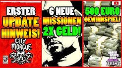 🙌Alle Neuen Inhalte!🙌 Update Hinweis! 3X GELD! 500 Euro Giveaway + Mehr! [GTA 5 Online Casino Heist]