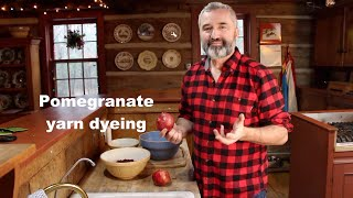 How to dye yarn with pomegranate.