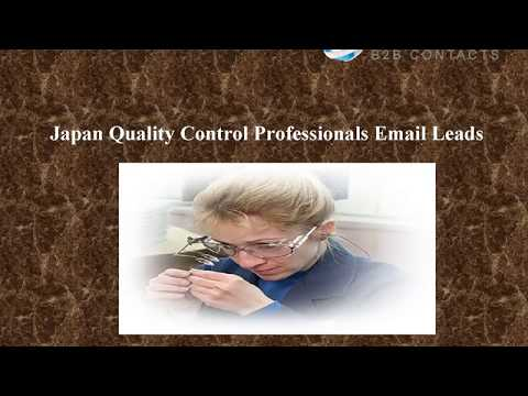 Japan Quality Control Professionals Email Leads
