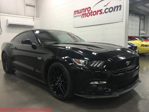 2016 Ford Mustang GT Premium Performance Navigation Black Wheels Munro Motors