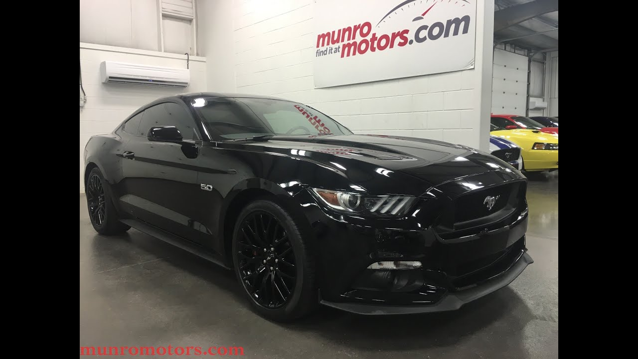 2017 Mustang Gt350 Black >> 2016 Ford Mustang GT Premium SOLD SOLD SOLD Performance Navigation Black Wheels Munro Motors ...