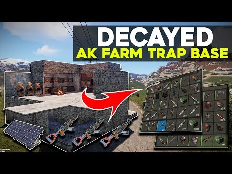 EASIEST *FAKE* DECAYED AK FARM TRAP BASE | Rust Electric Trap Base thumbnail
