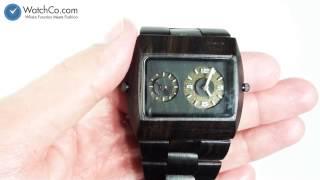 Wewood Men's Jupiter Dual Time Wood Watch