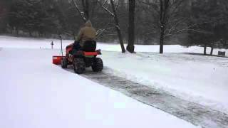First time using Husqvarna YT48XLS tractor with snow blade
