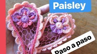 Crochet irlandés para principiantes: paisley paso a paso