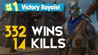 SOLO - ACK HA! ! 14 KILLS 332 WINS (Fortnite Battle Royale Gratis) [PT-BR] - Softe