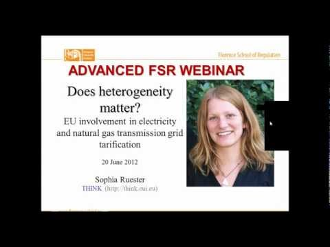 S. Ruester | Webinar on EU involvement in electricity and natural gas transmission grid tarification