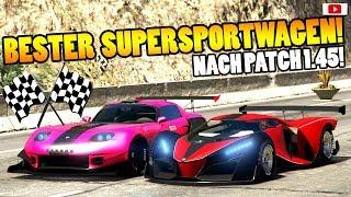 🏁🧐Bester SUPERSPORTWAGEN Nach Patch 1.45!🧐🏁Speed+Race Test! [GTA 5 Online After Hours Update DLC]