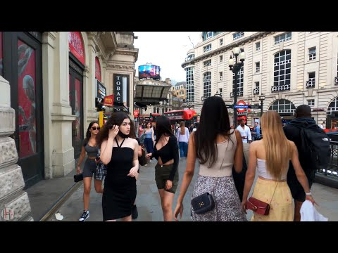 London Walking Tour | London West End Summer Walk 2021 | Around Piccadilly Circus | June Reopen | 4K