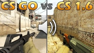 CS GO vs CS 1.6 ЗВУКИ ОРУЖИЯ | WEAPON SOUND COMPRASION