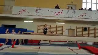 Открытое первенство г.Иванова по спортивной гимнастике, март 2018, бревно, обязател. программа 2взр.
