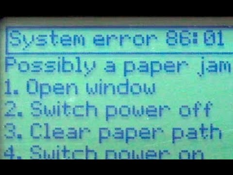 HP Designjet 500 & 800 Error 86:01 AFTER Belt Replacement