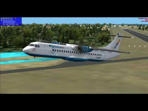 Bahamasair ATR 72-600 Crosswind Landing MYNN-MYER Full Flight