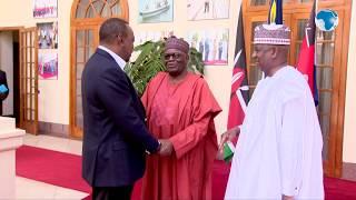 President Kenyatta receives condolence regards  from his Nigerian counterpart President Buhari