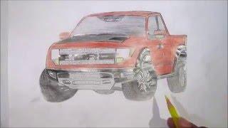 Ford F-150 - Desenho rápido -  drawing