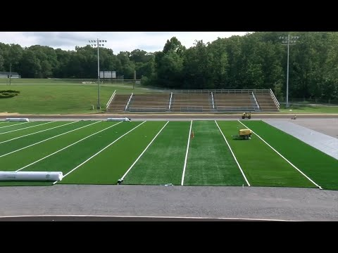 Turf field being installed at Glenvar High School