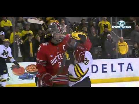 Michigan vs. Ohio State hockey fight