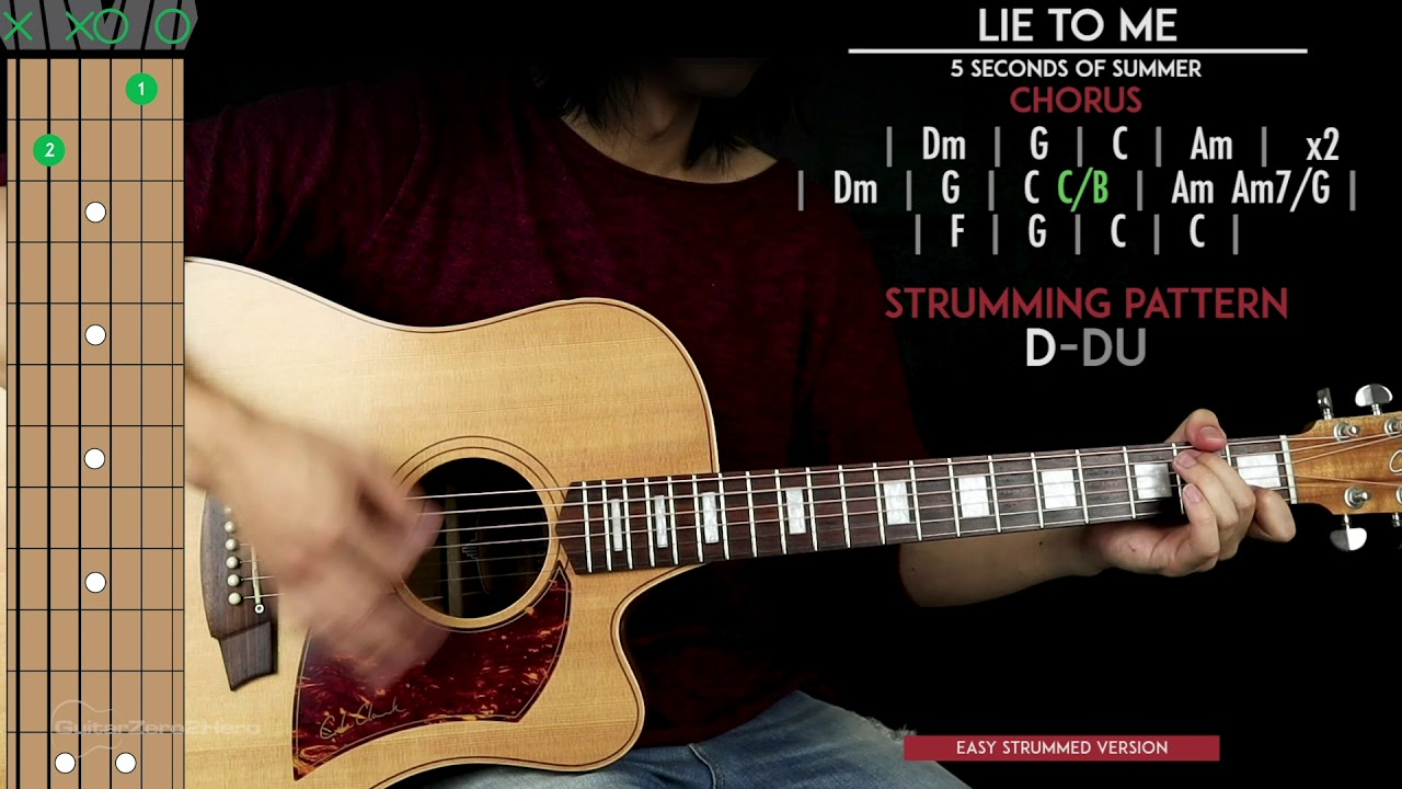 Lie To Me Guitar Cover Acoustic – 5SOS 🎸 |Tabs + Chords| – learn