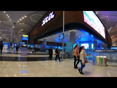Istanbul Airapoirt  - Walking Tour 🇹🇷 [4K]