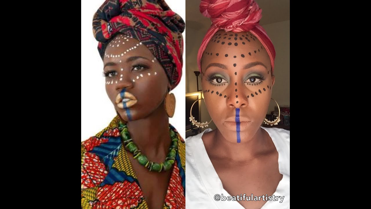 The Maroon Jamaicanu2022 (tribal Makeup) GHANA| Beatiful Artistry - YouTube
