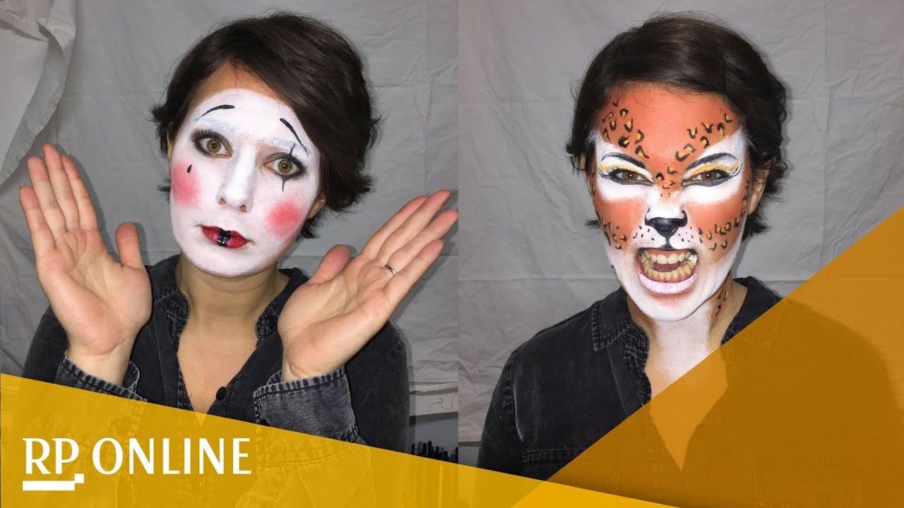 anleitung f r die karnevalsschminke leopard und pantomime zum nachmachen youtube. Black Bedroom Furniture Sets. Home Design Ideas