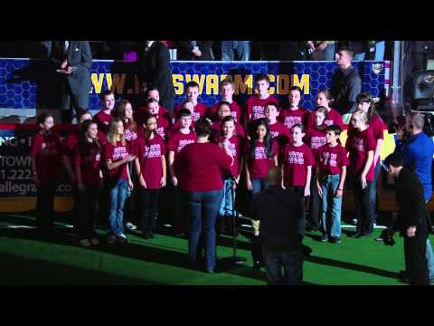 Shakopee Area Catholic School Sings U.S. and Canadian Anthems
