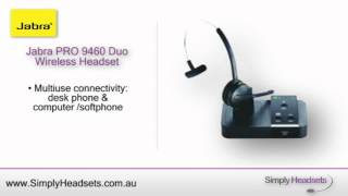 Jabra PRO 9460 Duo Wireless Headset Video Overview