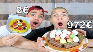 2€ PIZZA VS 972€ PIZZA !!! | PrankBrosTV