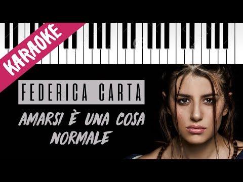 Federica Carta   Amarsi È Una Cosa Normale // Piano Karaoke con Testo