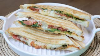 치즈 파니니 루꼴라 샌드위치/샌드위치메이커/Lucola…