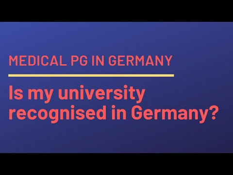How to check if my university is recognised in Germany, or