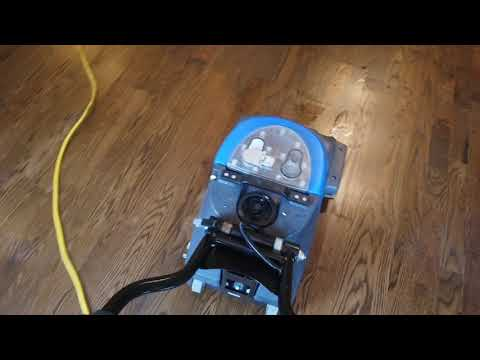 Cleaning construction dust off of hardwood floors before customer moves into her home!