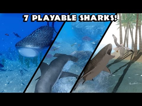 Ultimate Shark Simulator -7 Playable Sharks- Android/iOS - Gameplay