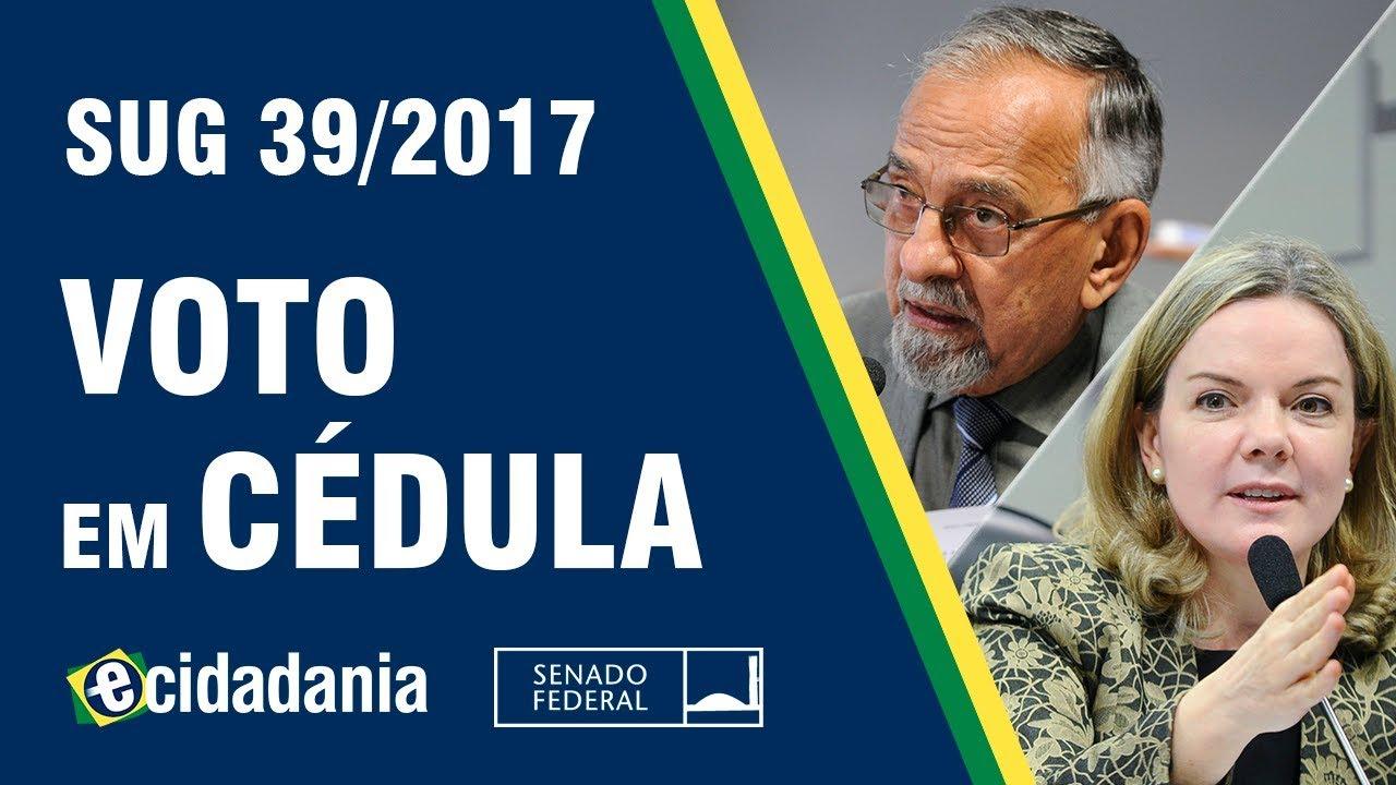 Voto Em Cédulas E Urnas De Lona Para A Eleição De 2018 Sug 392017 Parecer Da Cdh
