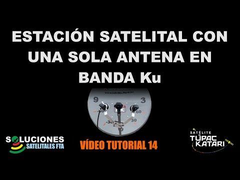 Estacion Satelital FTA con una sola antena parabolica en Banda Ku
