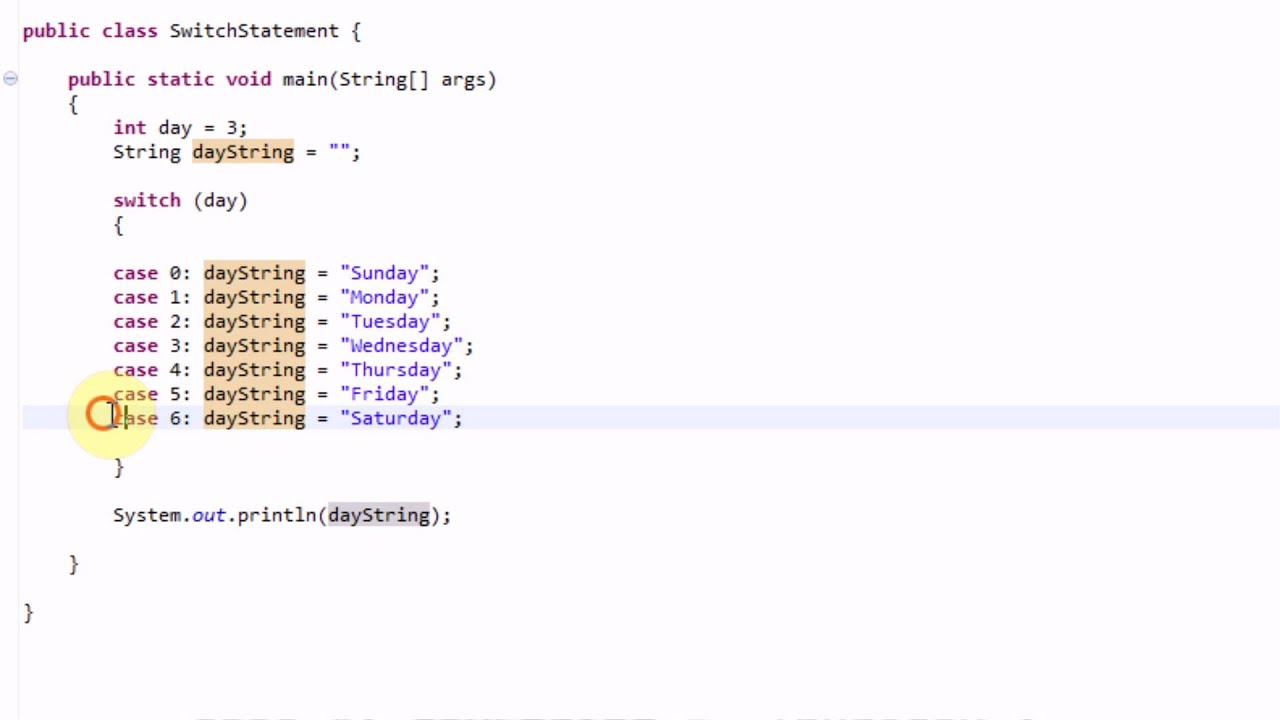 Learning java part 22 the switch statement youtube - Switch case java ...